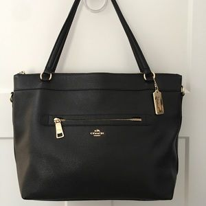 Authentic Coach Pebble Leather Tyler Tote F54687
